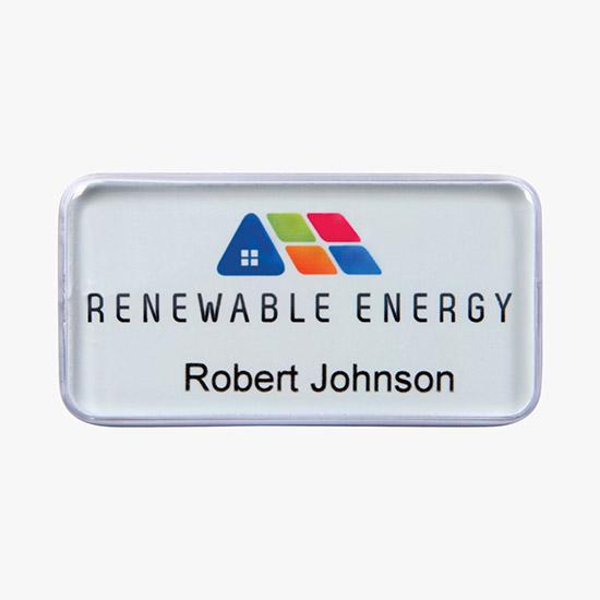 Custom Name Badges & Badge Holders Personalized w/Logo