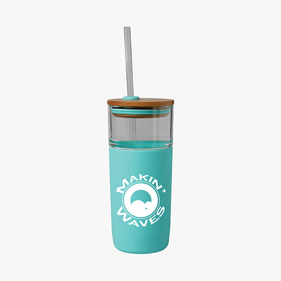 Custom Promotional Water Bottles with Straw + Your Logo - MARCO