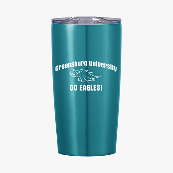 The Fanatic Group Christopher Newport University Double Walled Soft Touch Tumbler Design-1 Blue