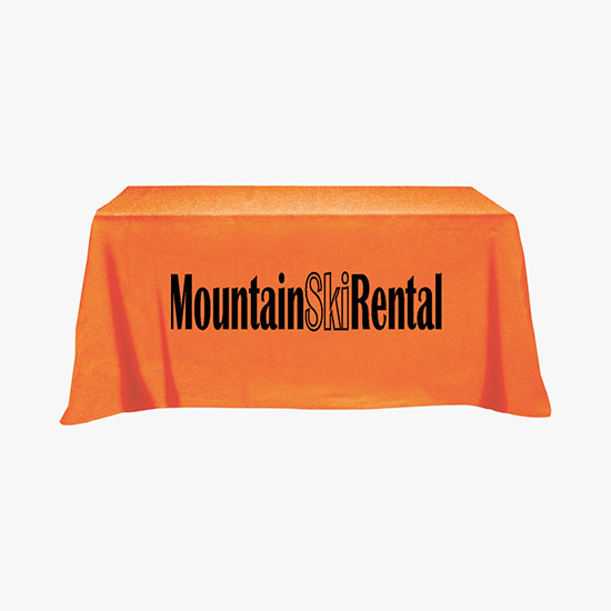 Open Back Table Cover - 6\u0027  sc 1 st  MARCO Promotional Products & Custom Open Back Table Covers - Three-Sided Tablecloths | MARCO