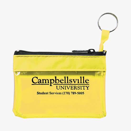 c416b4a46620 Key Ring Zippered Translucent Pouch