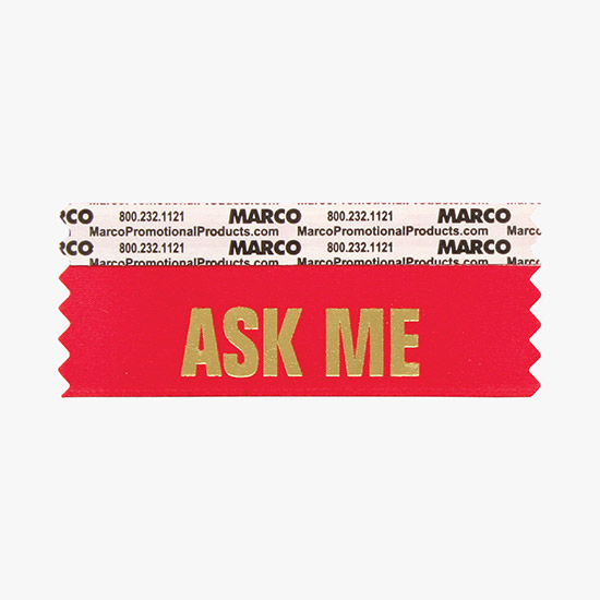 Badge Ribbon Titles by Alphabetical Listing 'A' - MARCO Promos