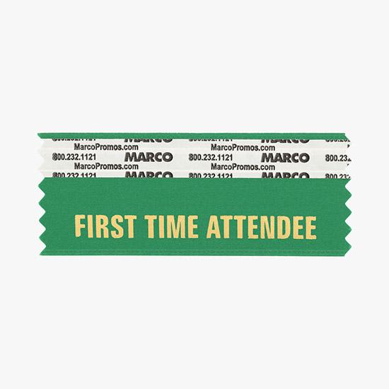 40f5e9bef27 FIRST TIME ATTENDEE Ribbon - Emerald Green, H1-FIRSTTIMEATTENDEE-EM ...