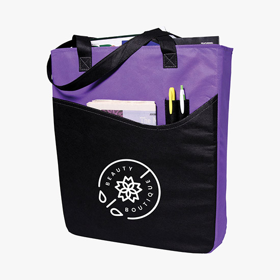 80 GSM Rivers Pocket Convention Tote - 24-Hour Production bbf40a0fa2eeb