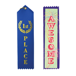 Custom Name Badge Ribbons w/Your Imprint/Logo - MARCO Promos